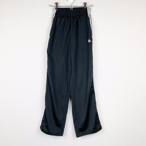 Adidas Black Athletic Pants with White Stripes